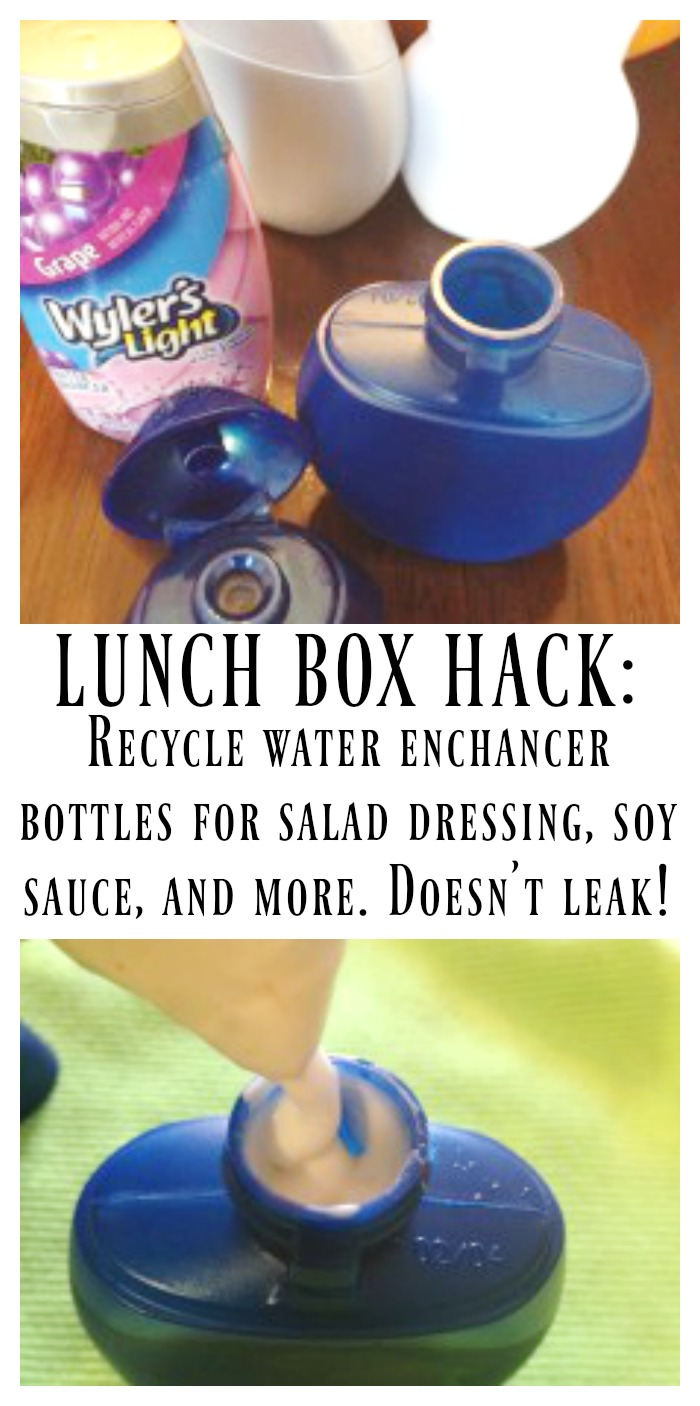 Recycle Water Enhancer - Lunch box hack