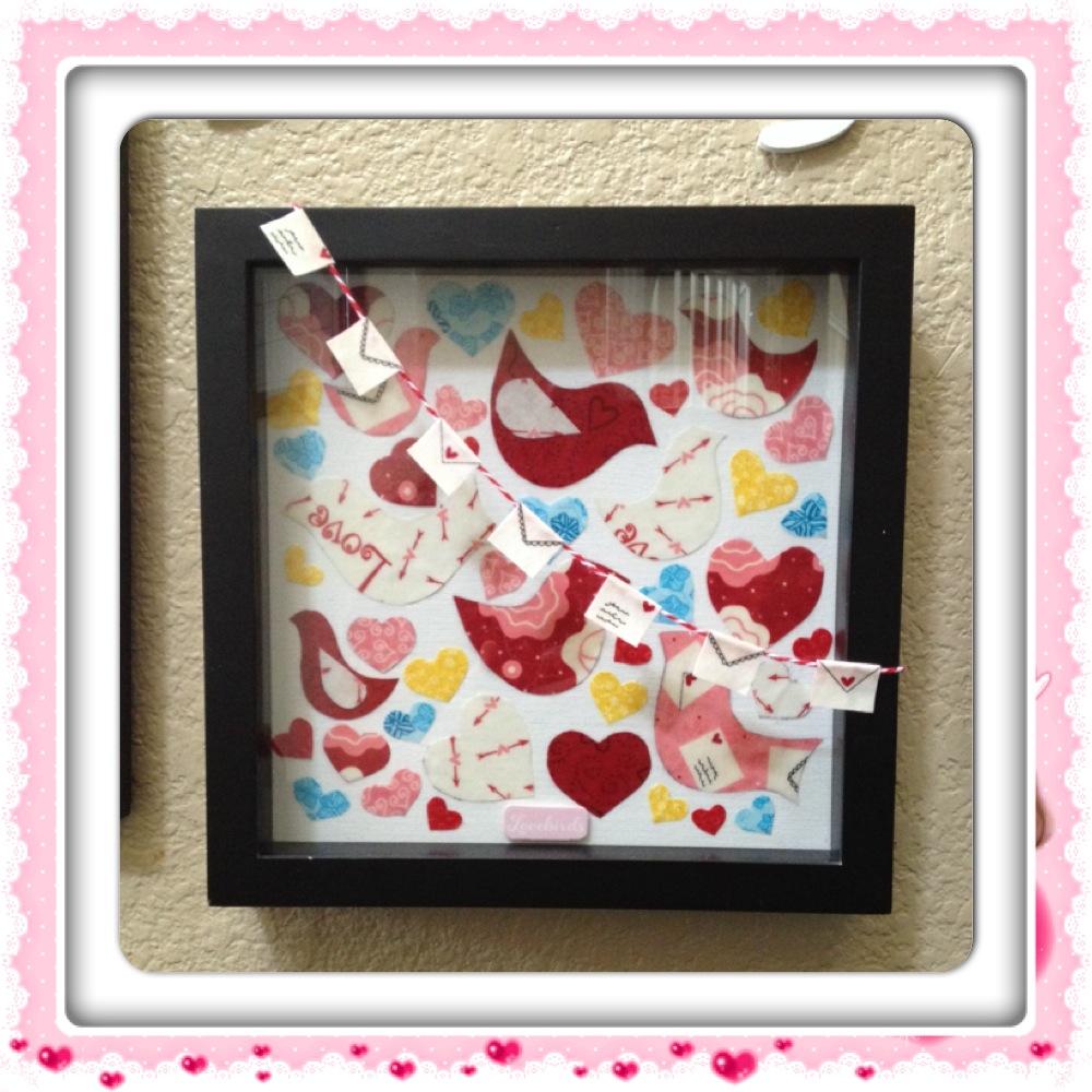 Valentine's Day Fabric Scrap Art