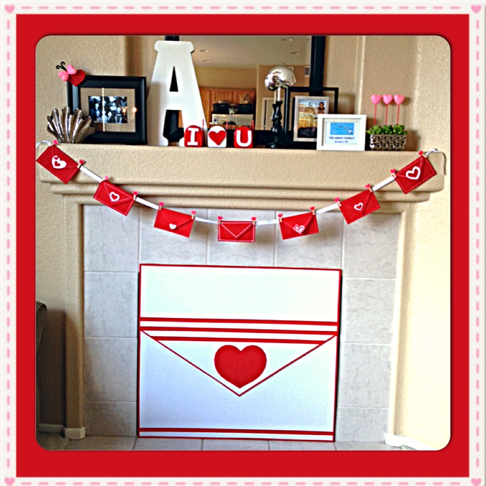 Valentine's Day Mantle & Giant Envelope Tutorial