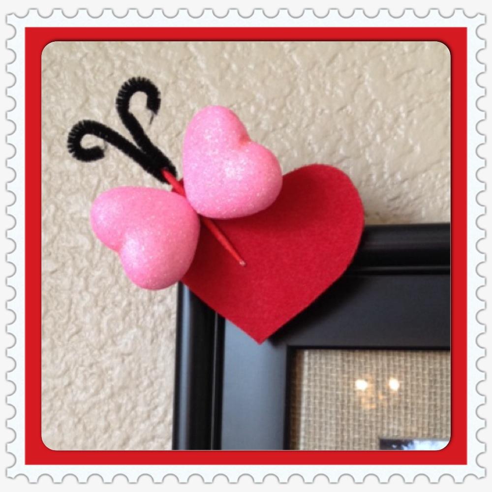 Dollar Store Valentine's Day Butterfly Craft