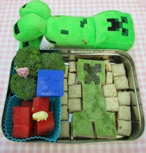Minecraft Creeper @Bento School Lunches