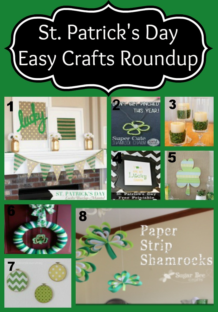 St. Patrick's Day Easy Crafts Roundup
