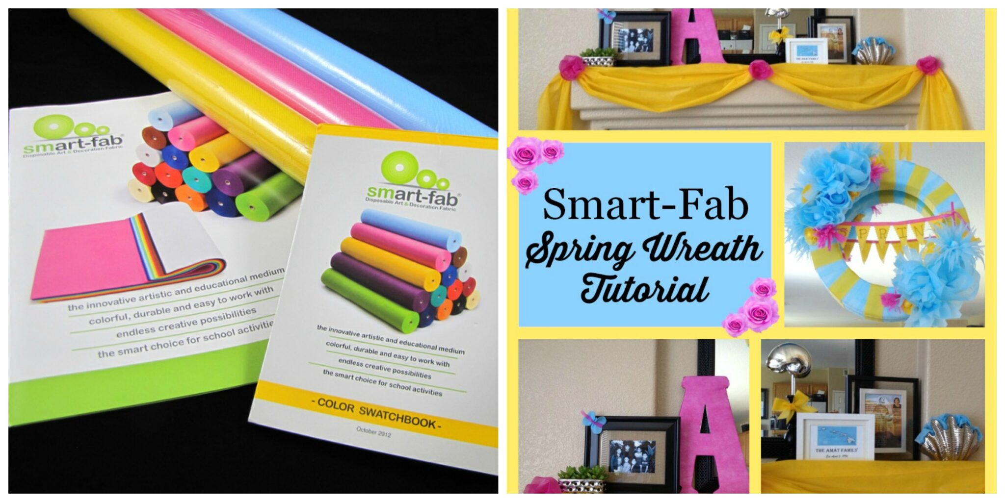 Smart-Fab Spring Wreath Tutorial & Giveaway!