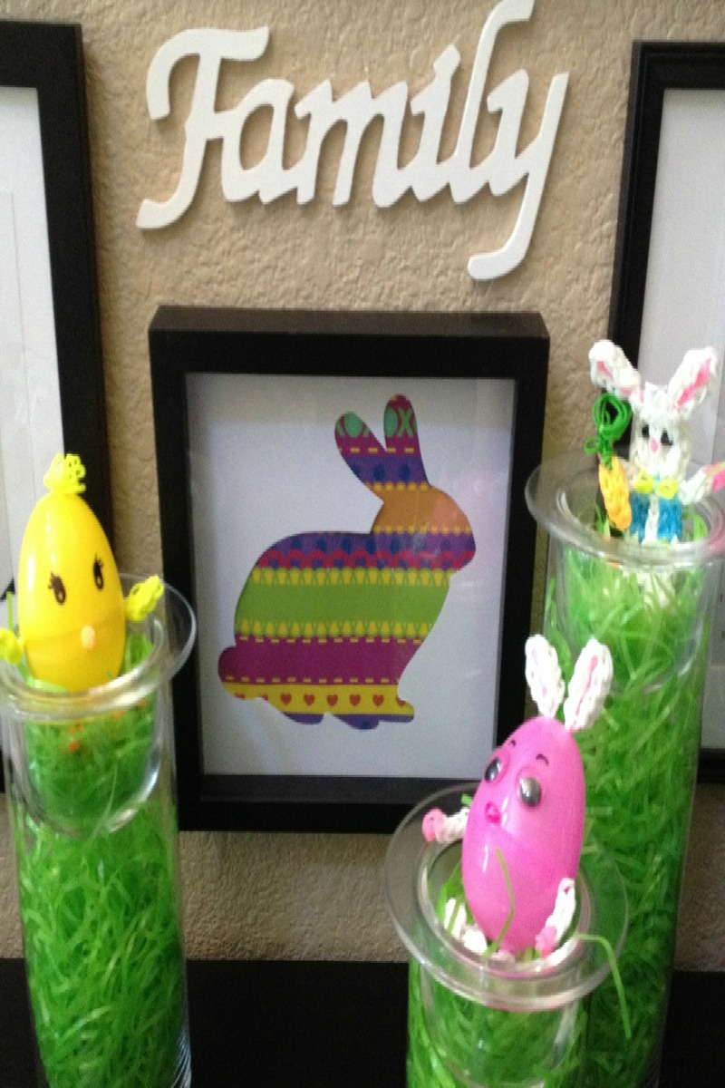 Easy No Craft Supplies Bunny Silhouette