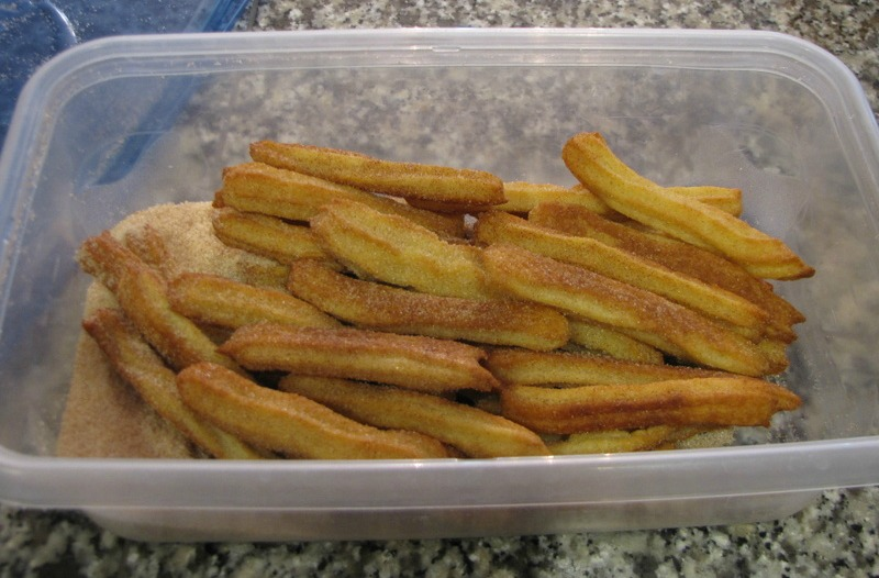 Finished Baked Churros