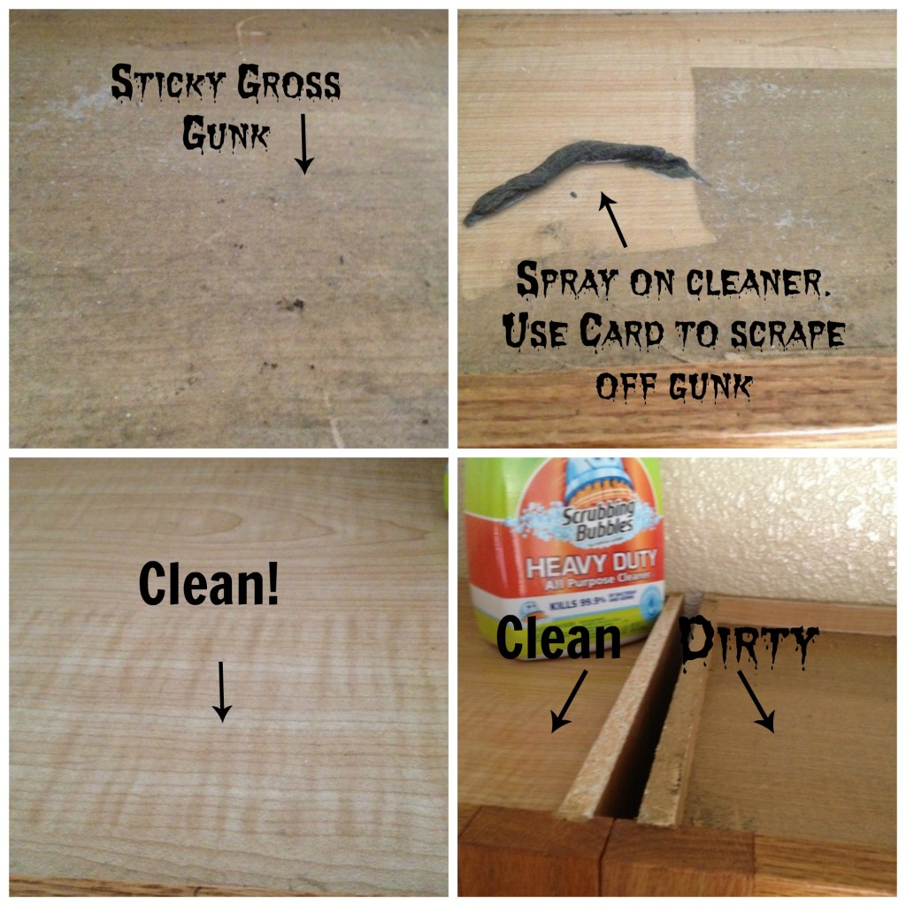how to clean grime off kitchen cabinets