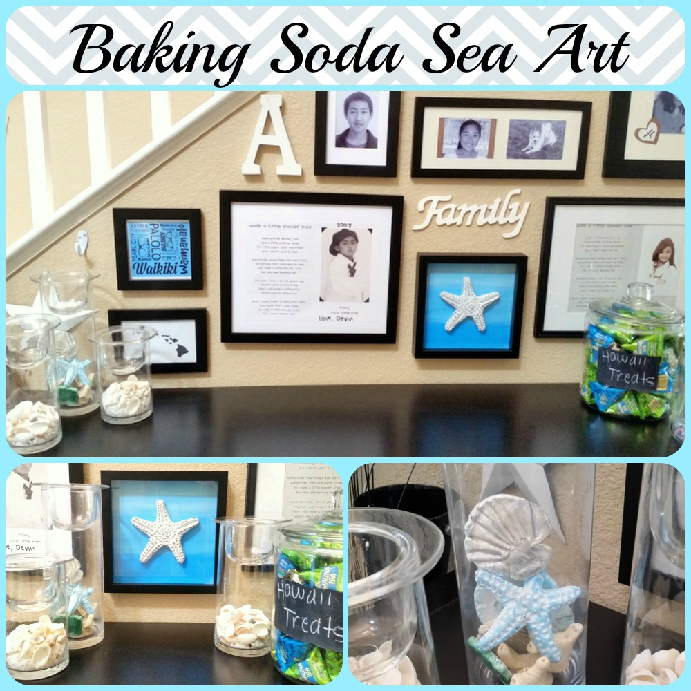 Baking Soda Dough Sea Art - Quick and easy baking soda dough recipe and starfish tutorial