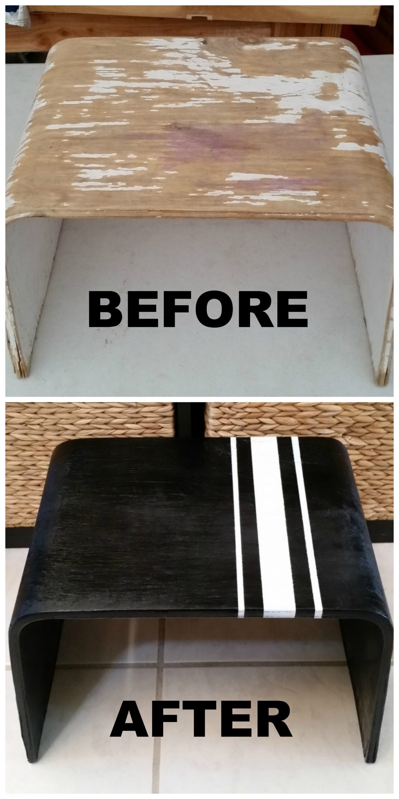 Ikea Stool Makeover - a super quick and easy way to update and revive an old Ikea Stool with paint.