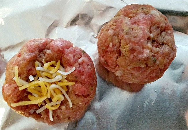 Cheese filled meatballs