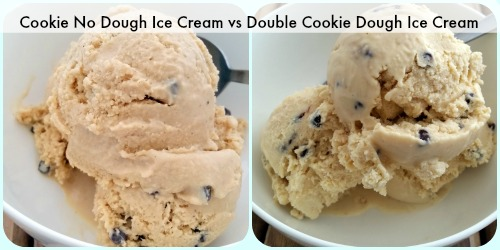 Comparison shot of Cookie Dough Ice creams