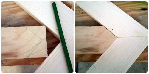 DIY wooden arrow point