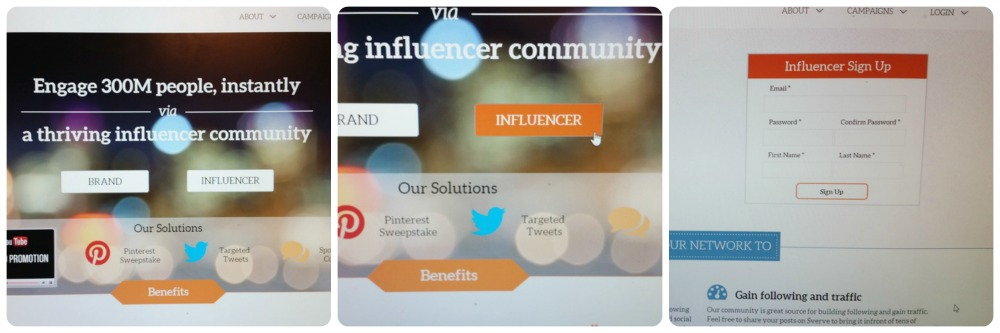 Influencer Sign Up