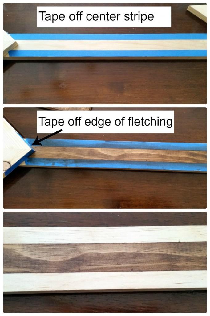 Staining arrow