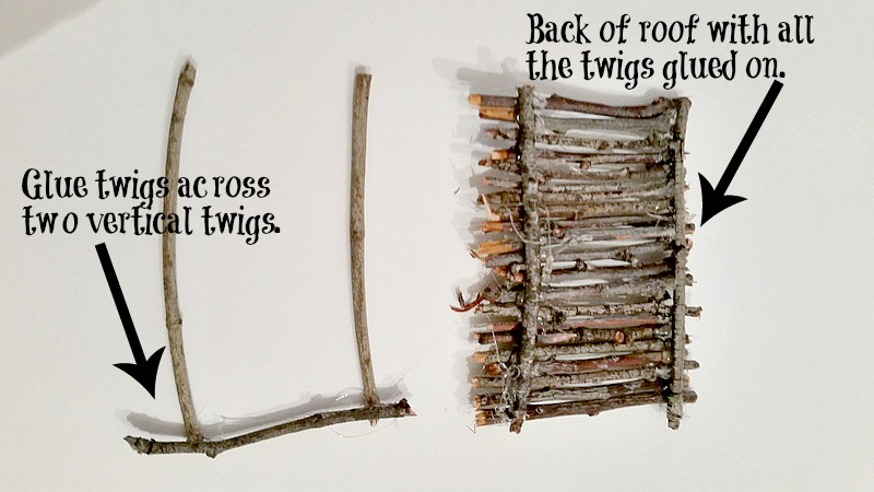 Twig roof