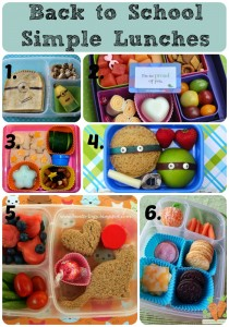 Back to School Simple Lunches