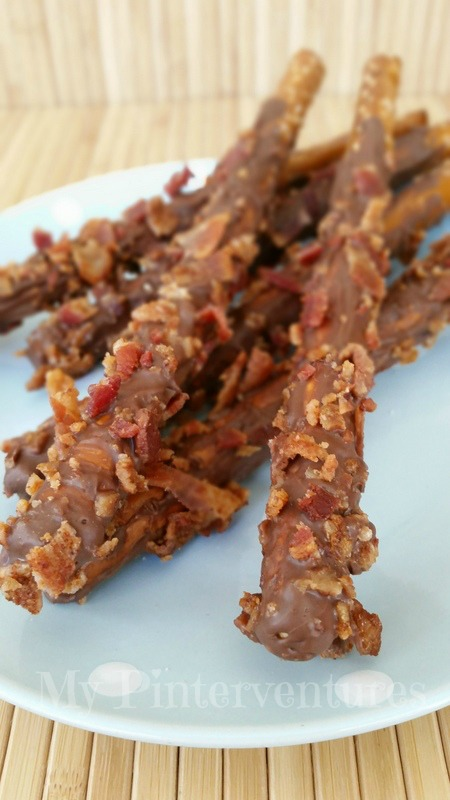 Chocolate and Bacon Covered Pretzels
