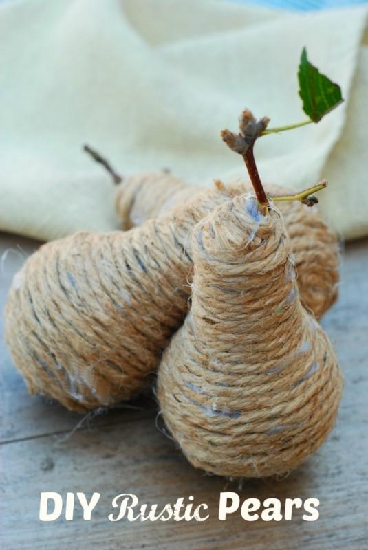 DIY Rustic Pears
