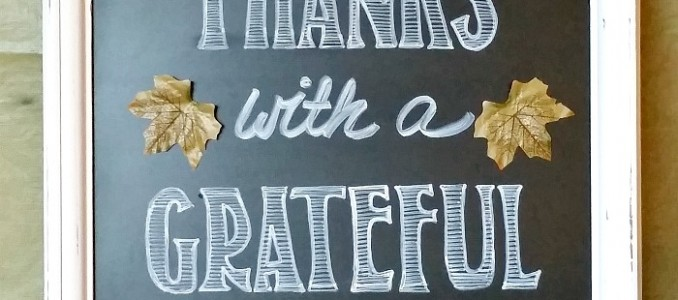 Fall Give Thanks Chalkboard Sign