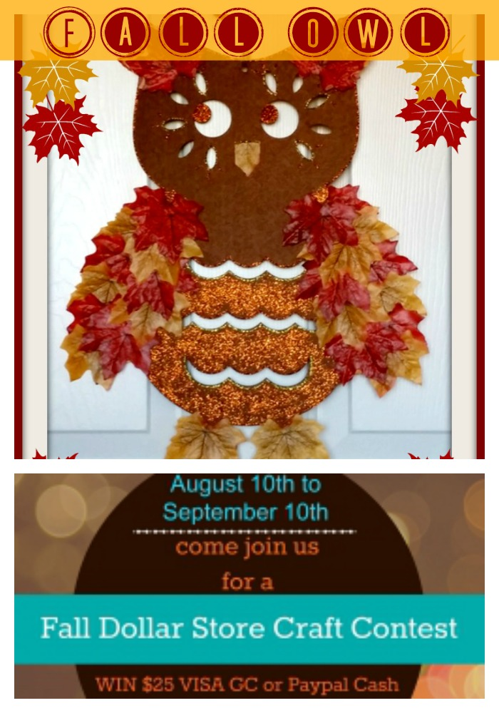 Fall owl & Dollar Store Craft Contest
