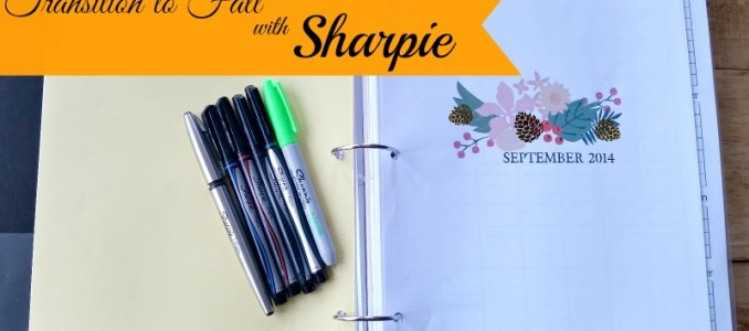 Transition to Fall with Sharpie