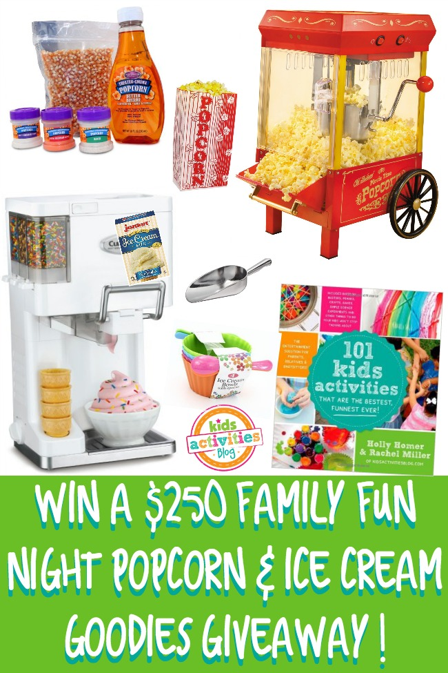 $250 Family Fun Night Popcorn & Ice Cream Giveaway