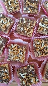 Chocolate & Caramel Pretzel Rice Krispies Treats