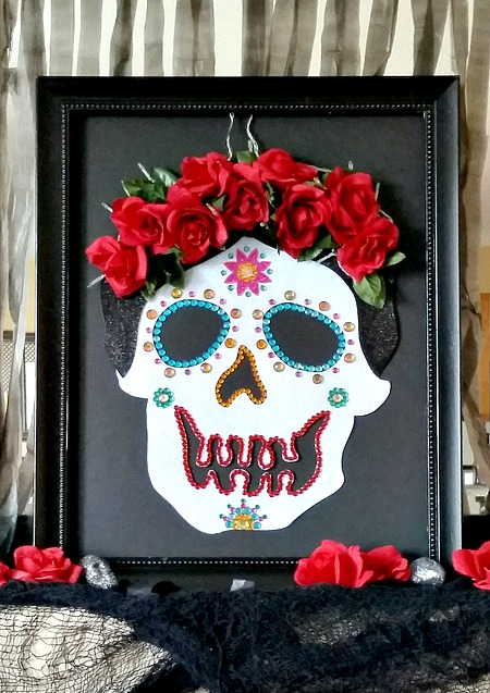 Day of the Dead Sugar Skull in Frame