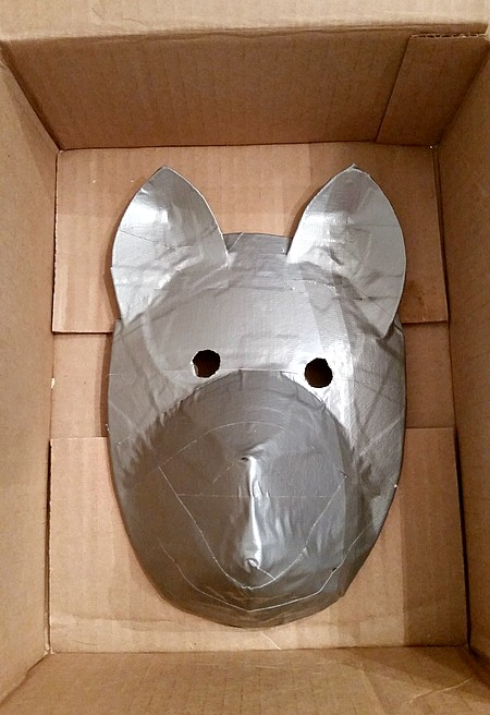 Fully taped Anbu mask