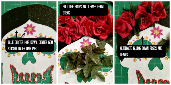 Gluing Roses Collage