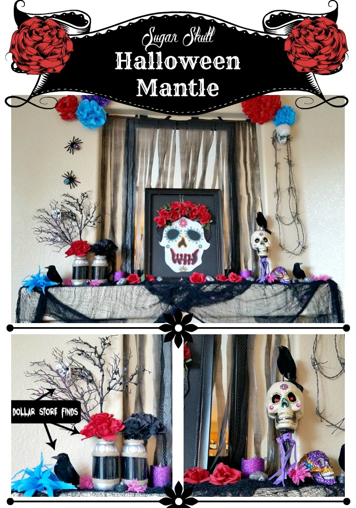 Sugar Skull Halloween Mantle