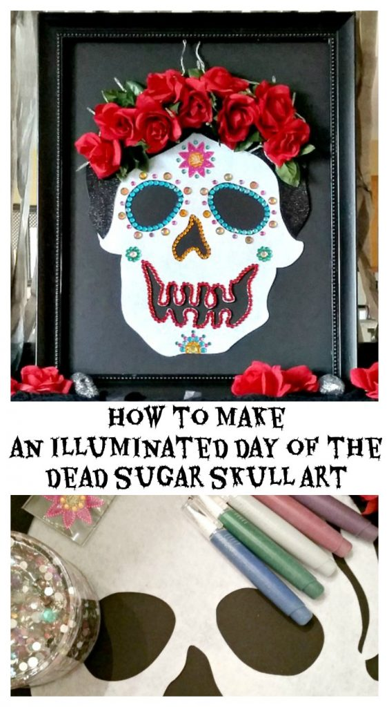How to make an illuminated Day of the Dead Sugar Skull Art
