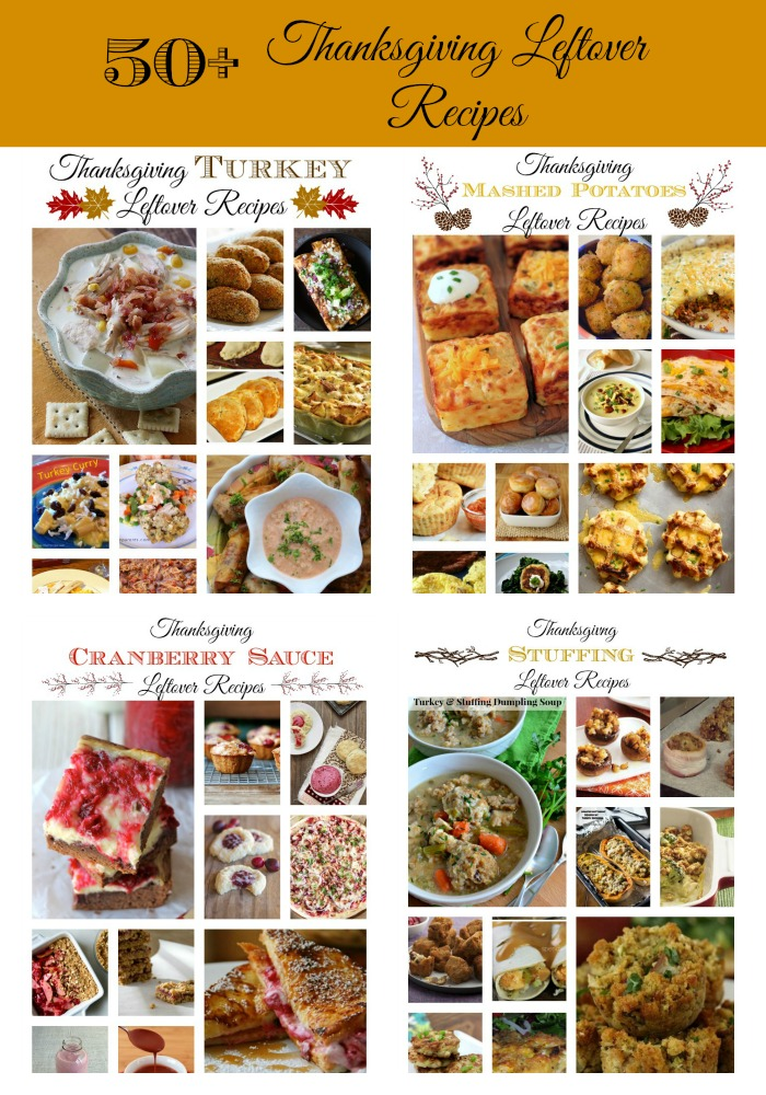 50-Thanksgiving Leftover Recipes - A recipe round-up of some of the most creative recipe ideas for using up leftover turkey, stuffing, mashed potatoes, and cranberry sauce.