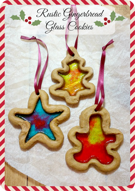 Rustic Gingerbread Glass Cookies