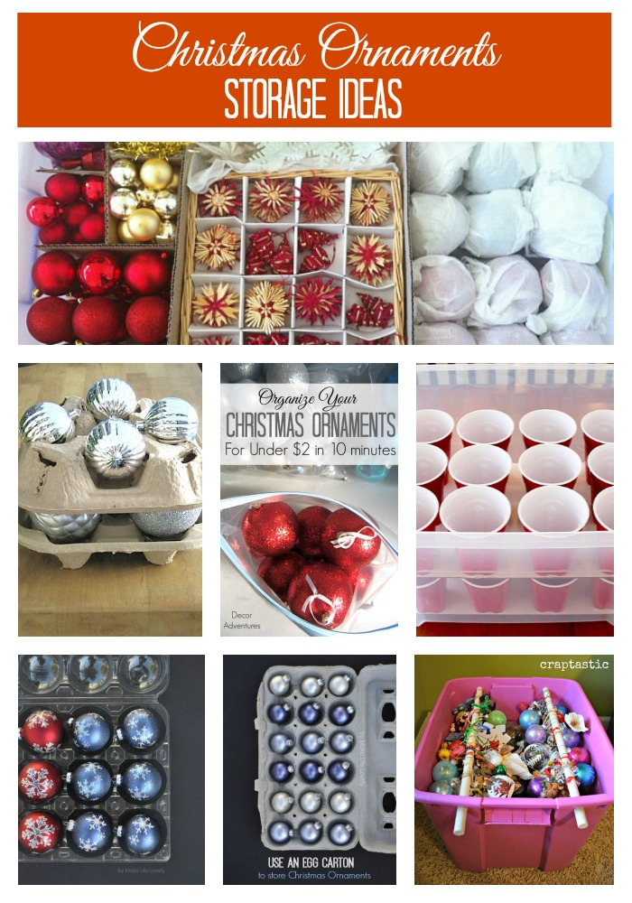 Christmas Decoration Storage Ideas Innovative Home Creations Christmas Ornament Storage: Keep your precious glass ornaments from breaking. Gift Wrap Organizer: Wrapping is so much easier when your supplies are all in one place.