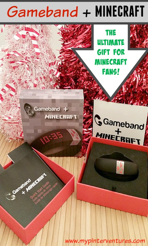 Gameband-The-Ultimate-Gift-for-Minecraft-Fans - This is the first-ever portable Minecraft wearable. by Now Computing*, which is affiliated with Minecraft. It's not only a portable USB and watch; it has a customizable graphic LED display and more! #Ad #GameOnTheGo #cbias @MyGameband @Minecraft @GameStop