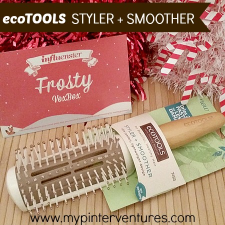 ecoTOOLS-Styler-Smoother - an earth friendly hair brush made from 80% recycled materials. 3-in-1 brush that can detangle, style, and smooth. #LoveMyEcoHairBrush