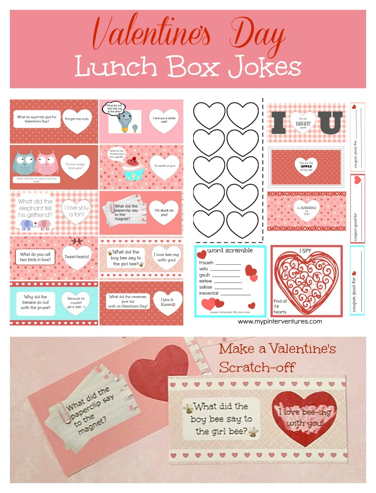 DIY Scratch-off Valentine's Day Lunch Box Printables