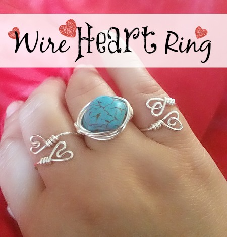Wire-Heart-Ring - simple double loop heart wire tutorial.