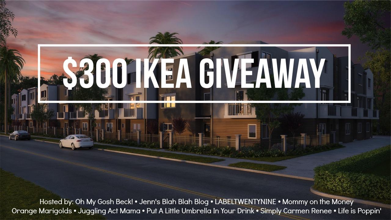 $300 Ikea Gift Card Giveaway