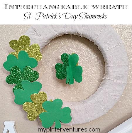 Interchangeable Wreath - St. Patrick's Day Shamrocks wreath
