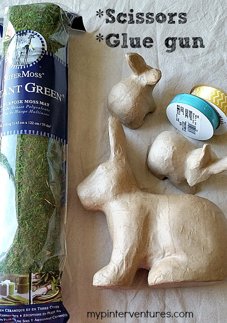 Moss covered bunny supplies