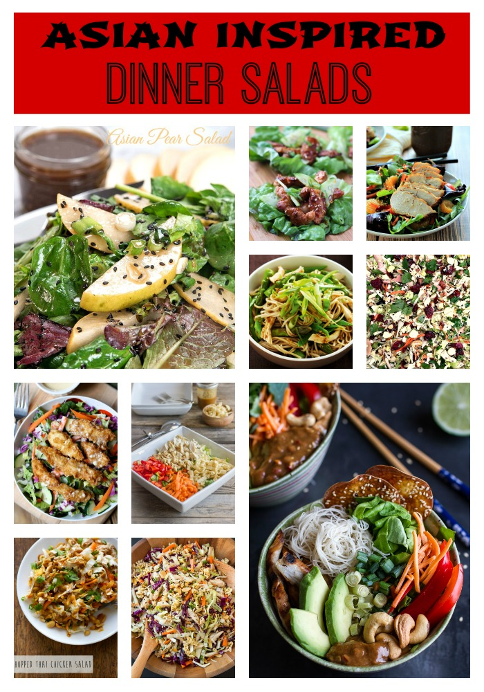 Asian Inspired Dinner Salads