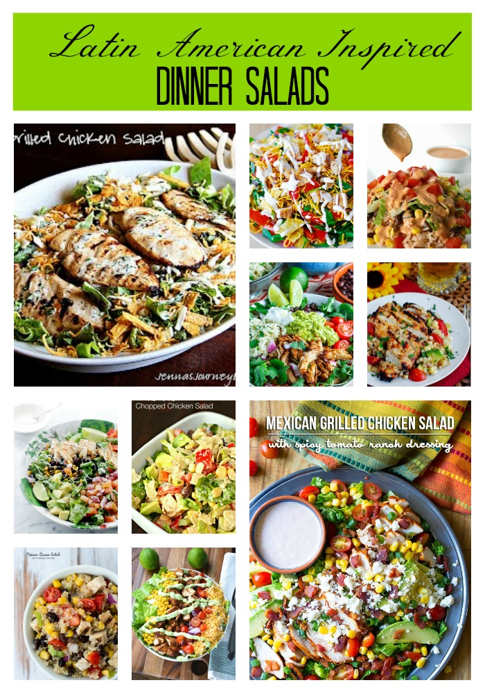 Latin American Chicken Dinner Salads