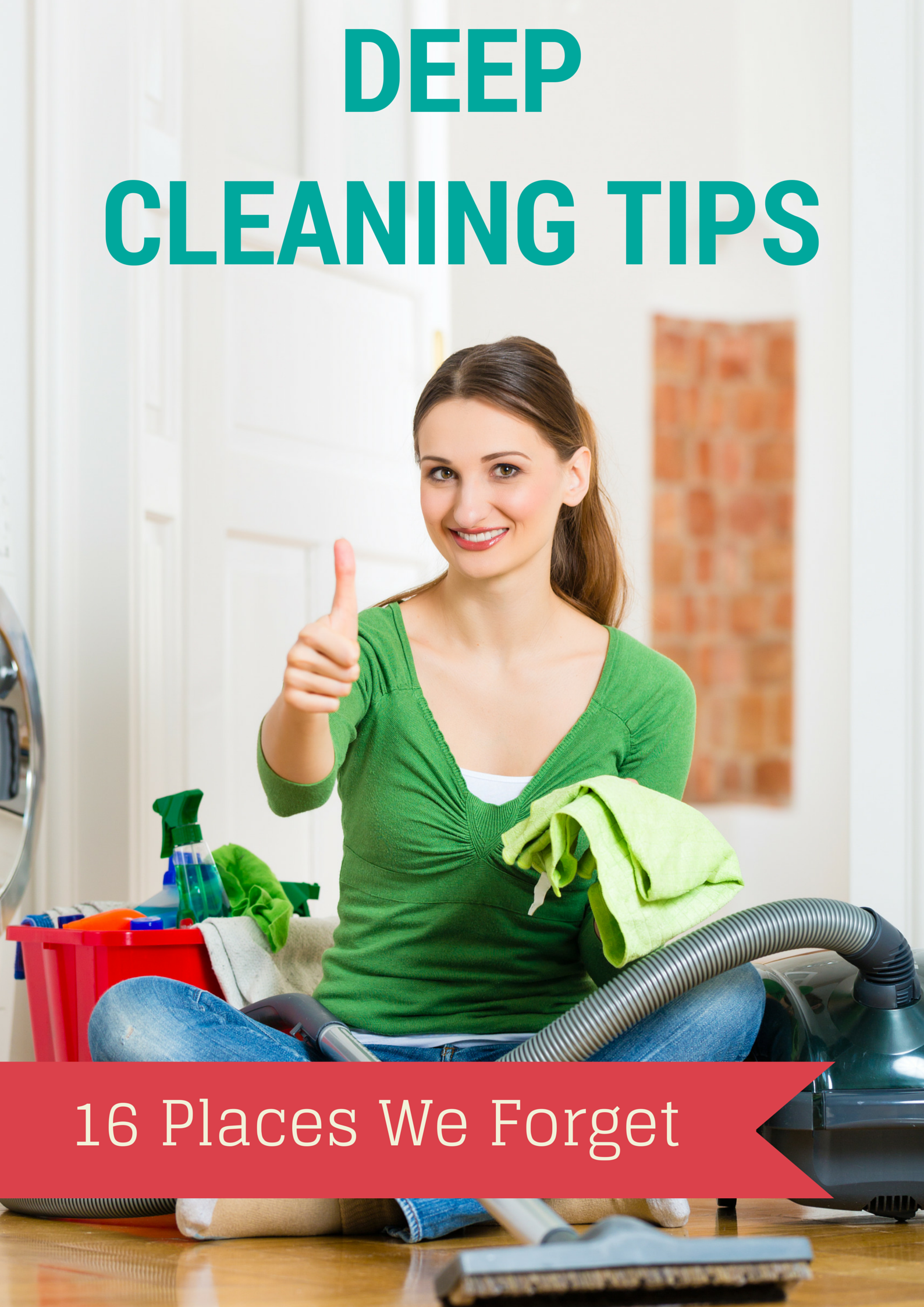 Deep Cleaning Tips: 16 Places We Forget. Spring deep cleaning tips/tricks for every room