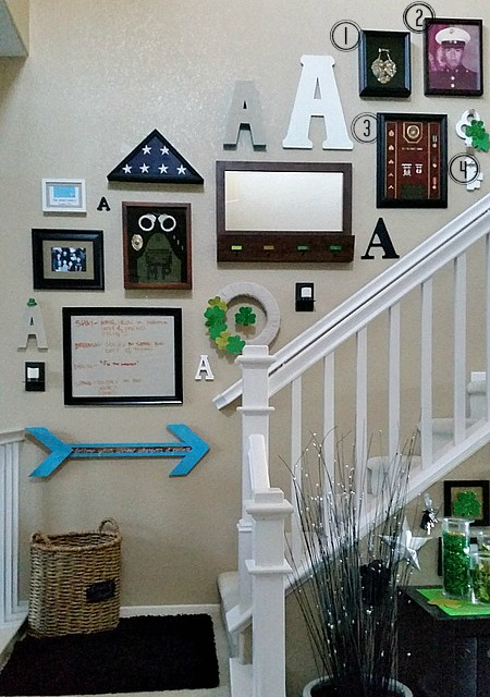stairway gallery wall assortment 2