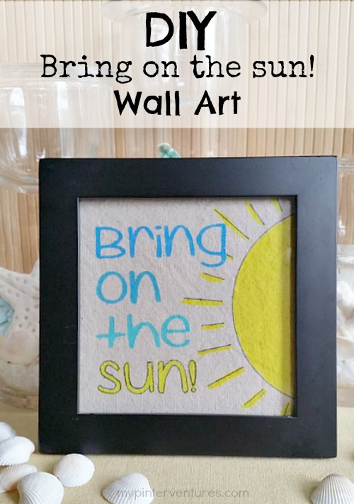 DIY Bring On The Sun Wall Art