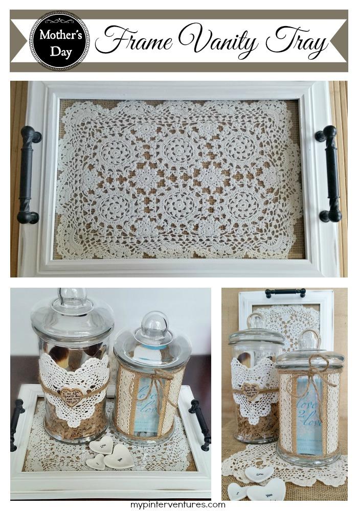 DIY Frame Vanity Tray