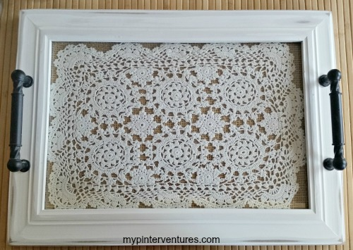Crochet lace vanity tray