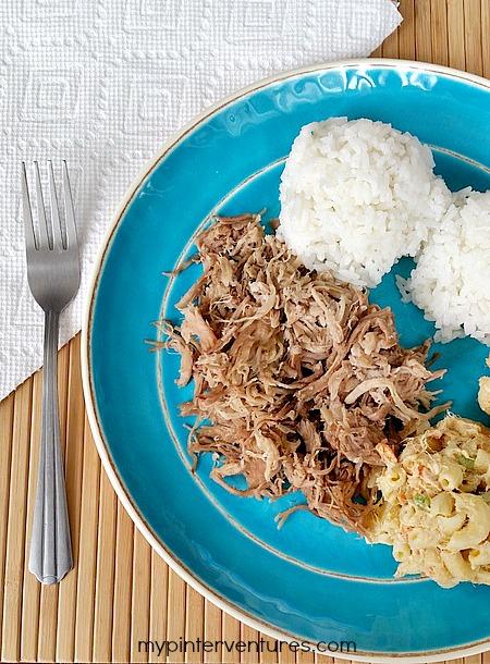 Kalua pig plate lunch