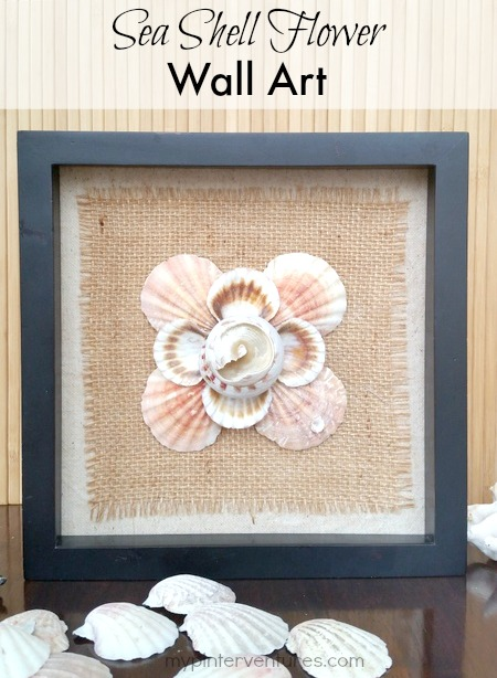 Seashell flower wall art